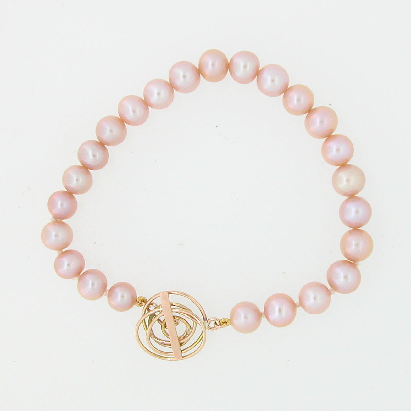 for spring luxury pearls jewerly onto bracelet pearl pink bracelets swarovski peach touch woman en a wrap leather